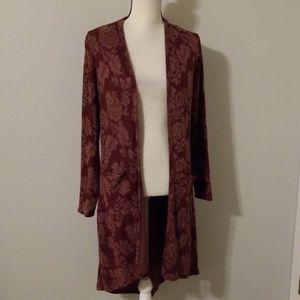 Knox Rose long floral cardigan